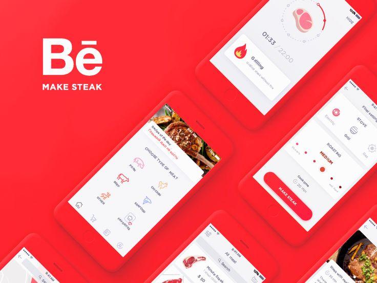 다음 @Behance 프로젝트 확인: \u201cMake Steak Application\u201d https://www.behance.net/gallery/44389359/Make-Steak-Application