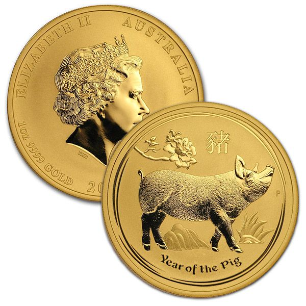 Buy 2019 Year Of The Pig 1 Oz Gold Coin Perth Mint Lunar Series Ii Silver Coins For Sale Coins Gold Coins