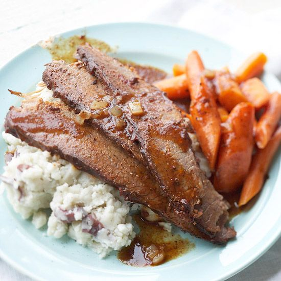 Because brisket is a tough cut of meat, it's best when braised.