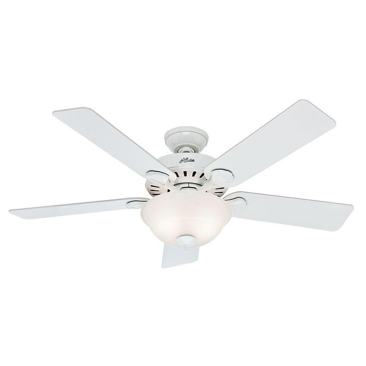 37 best fans images on pinterest ceiling fan ceiling fans and hunter pros best five minute 52 in indoor white ceiling fan with light kit aloadofball Images