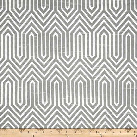 Grey Geometric Fabric by the Yard trail ash Upholstery Fabric Premier Prints home decor - 1 yard or more - SHIPS FAST