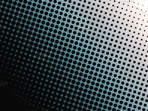 Abstract Background Of Black Dots On Blue And White Background