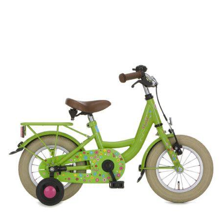 Cortina lief! fiets 12 Inch meisjes remnaaf gras groen