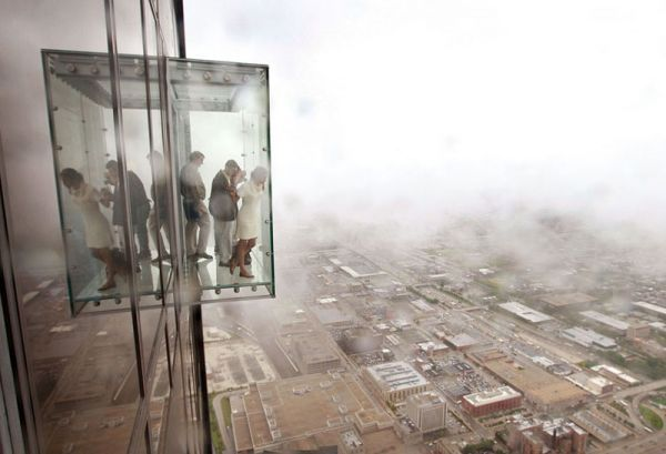 103 story balcony in Chicago....Willis Towers, Glasses, Odd Things, Balconies, The View, Boxes, Floors 103, Places, Chicago