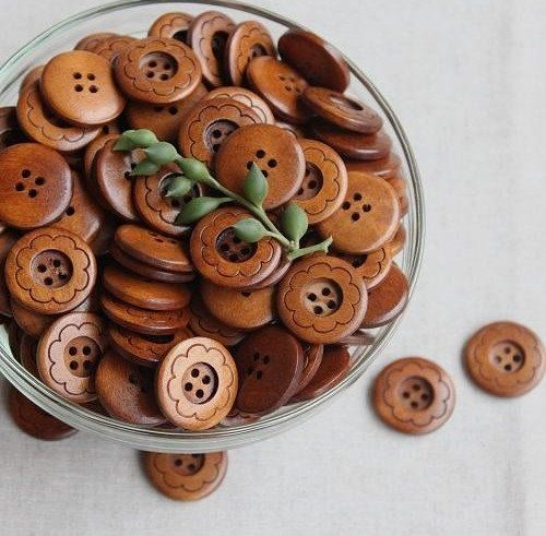10pcs wooden button  2.3cm0.90 bd8011 by prettyball on Etsy, $3.20