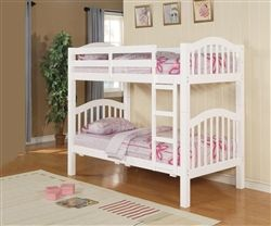 Oliver White Wood Twin Bunk Bed