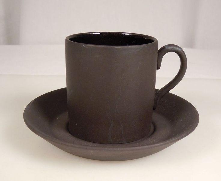 Wedgwood Black Basalt Coffee Can / Cup & Saucer