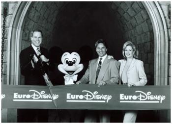 Despite many critics, Euro Disney opened up in Paris.