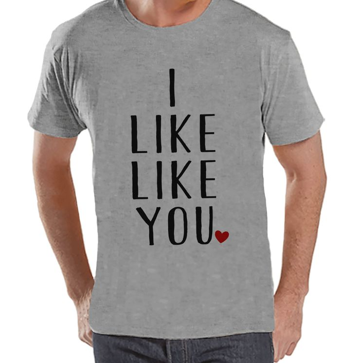 {Now Available} New product: Men's Valentine S.... Check it out here! http://7ate9apparel.com/products/mens-valentine-shirt-mens-i-like-like-you-valentines-day-shirt-valentines-gift-for-him-funny-happy-valentines-day-grey-t-shirt?utm_campaign=social_autopilot&utm_source=pin&utm_medium=pin