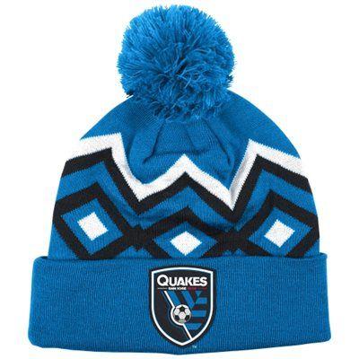 San Jose Earthquakes adidas Cuffed Knit Hat With Pom – Blue
