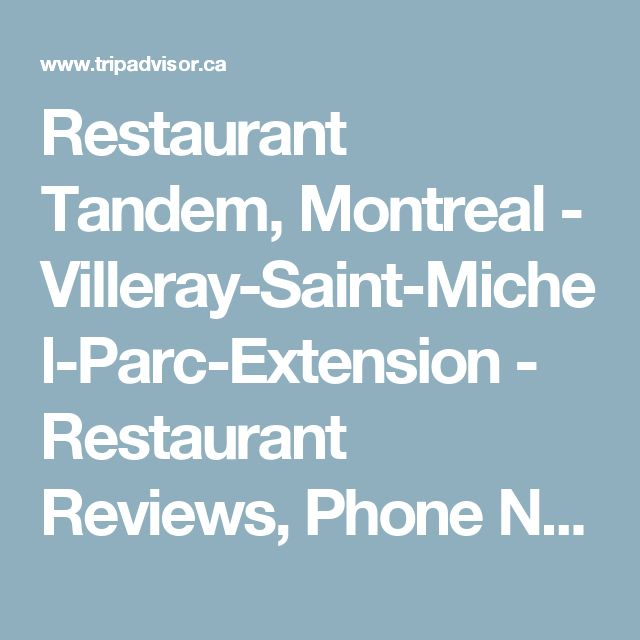 Restaurant Tandem, Montreal - Villeray-Saint-Michel-Parc-Extension - Restaurant Reviews, Phone Number & Photos - TripAdvisor