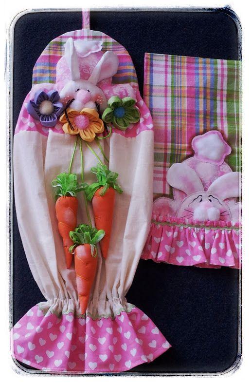 Porta bolsas y paño para cocina http://mimundocountry.blogspot.com