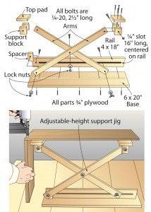 Scissor-lift support provides a third hand pour completer, coupler avec un verin de fermetur de portail en 12v ( a tester)