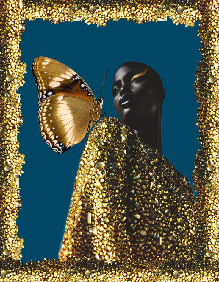 • Jeneil Williams by Txema Yeste for Numero • digital collage by norlaura