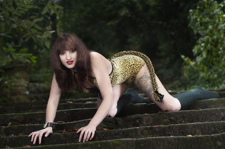 In my Anne Summers leopard print play suit taken at Bestwood Lodge grounds by Bob Richards