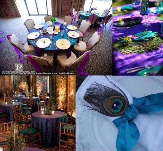 Pozytywne Inspiracje Ślubne: Pawie pióra jako motyw przewodni wesela