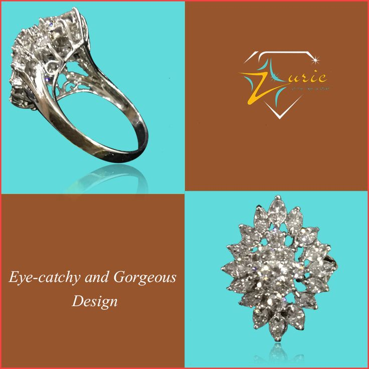 Modern and glamorous, this pretty diamond ring will add a delicate charm. Get it before it's gone. #pretty #charming #shiny #bright #diamond #ring #zurie