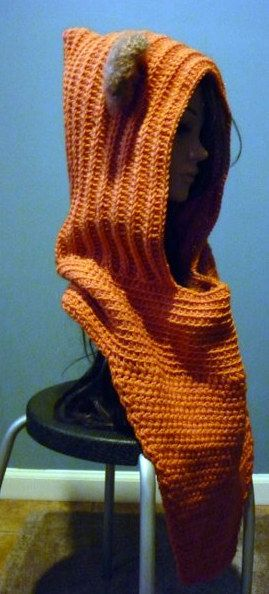 Wicket Ewok Hooded Cowl Kawaii Crochet StarWars ...