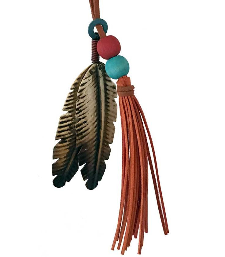 Southwestern Christmas Ornament - Feathers and Tassel