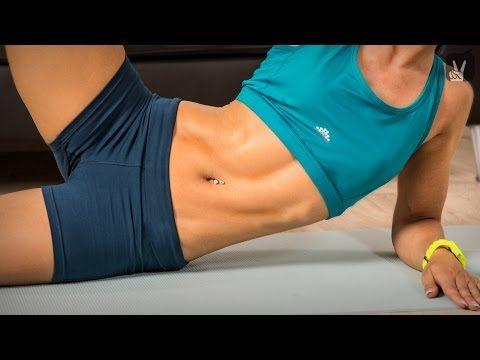 Fitness Workout: Bikini-Fit mit schmaler Taille und flachem Bauch! - YouTube