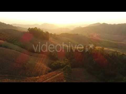 Aerial Mountain Sunrise (Stock Footage)