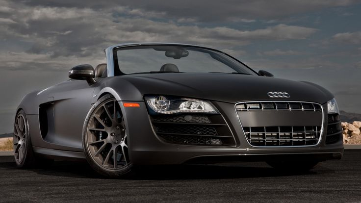 Audi R8 Spyder Black Wallpaper