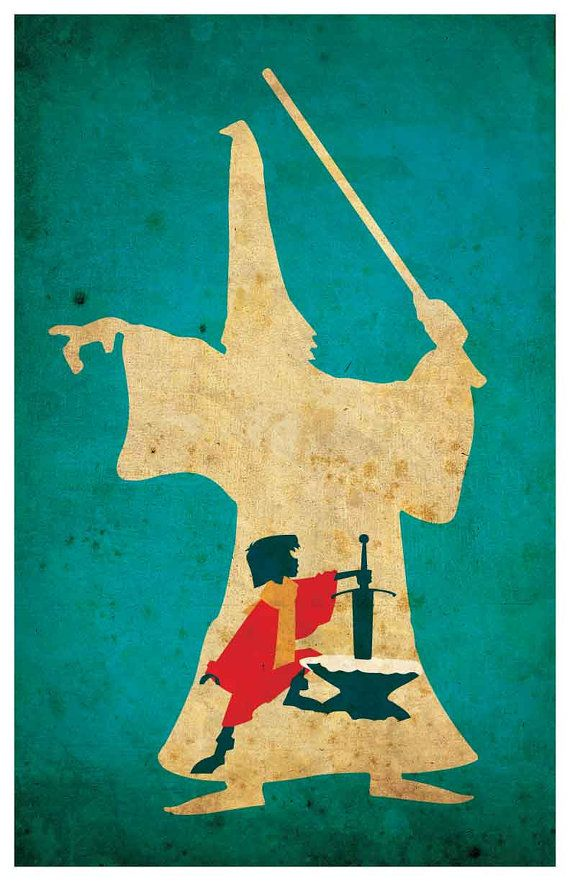 Vintage Disney movie poster The Sword in the by MINIMALISTPRINTS