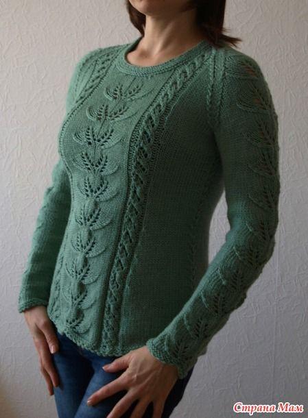 """Пуловер с рисунком """"Рога оленя"""""""