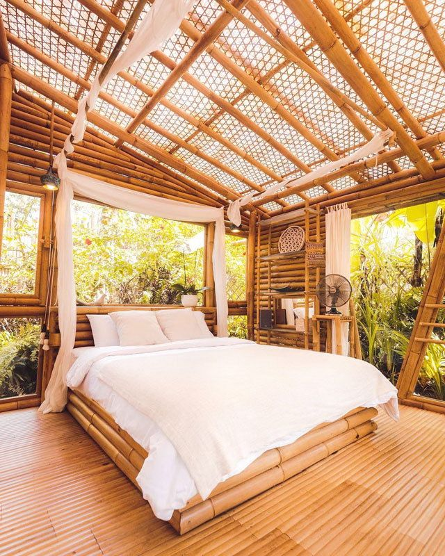 Hideout Bali Eco Bamboo Home Cabins In Bali Wowow Home Magazine Bamboo House Design Bamboo House House Design