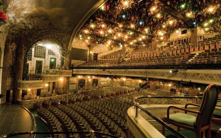 The Winter Garden is one of the last remaining stacked Edwardian theatres, constructed seven storeys above the Elgin Theatre in Toronto, Canada
