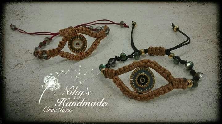 "Boho eyes  bracelets ""Niky's handmade creations"""