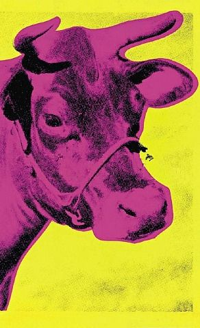Cow By Andy Warhol Media Used: Screenprints on Board Subject Matter: Cow Dominant Elements: Colour and Form Dominant Principles: Contrast and Composition
