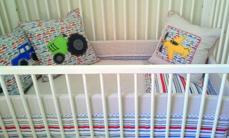On the move cot set with duvet cover and themed cushions www.kiddynook.com