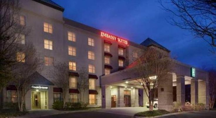 Embassy Suites Memphis Memphis Located near Interstate 240, this hotel is 12.8 km from Memphis International Airport. Features include free airport shuttle services, an on-site restaurant and spacious suites with two 32-inch flat-screen TVs.