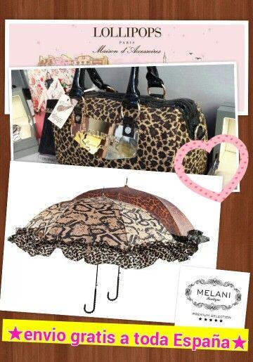 Bolso y paraguas con animal print