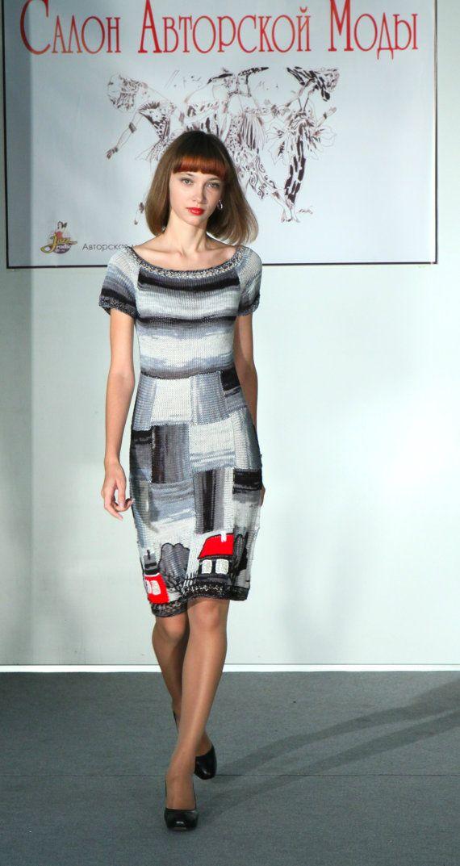 RED LODGES knitted summer dress short handmade by annalesnikova, $1125.00