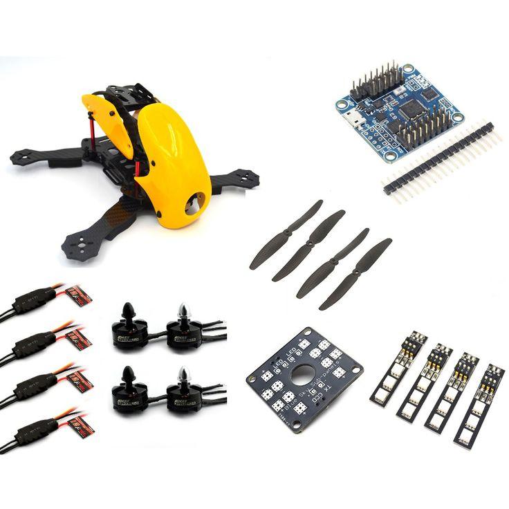 fpv Robocat 4-Axis Carbon Fiber Quadcopter Frame FLIP32 10DOF 2204 Motor 12A ESC props ~RC01 Yellow //Price: $79.16 & FREE Shipping //     #RCQuadcopter