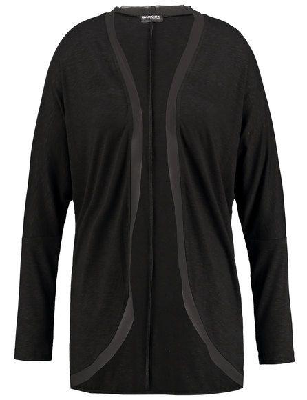 Dit casual lange vest met open fronten, overtuigt met zijn extra brede vleermuismouwen en flatteus silhouet! Fijne chiffon accenten geven de nobele to...