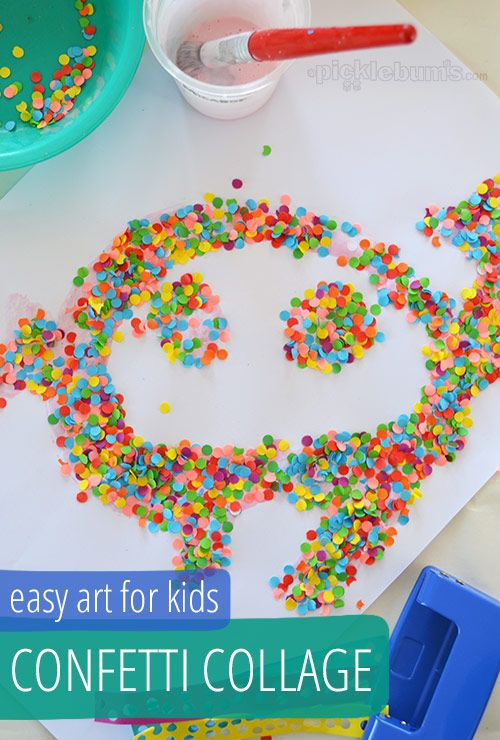 Confetti! Who doesn't love it?! Now you can make a little confetti collage. BRB, making this fun craft!