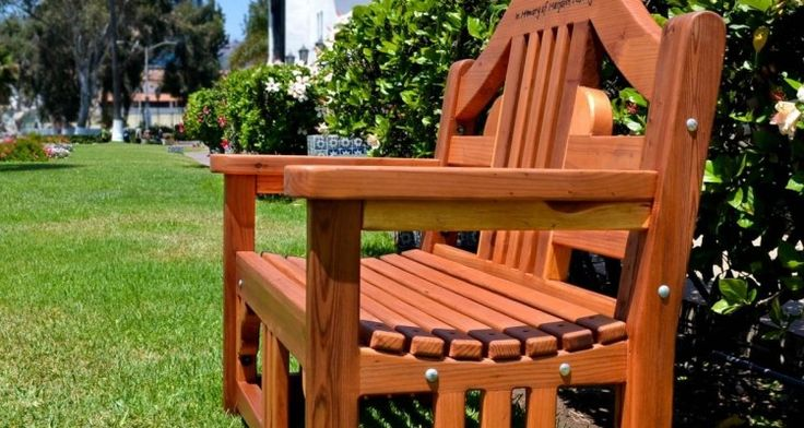 16 Interesting Engraved Outdoor Benches Idea