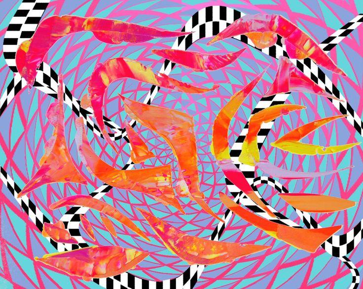 Whip Splash Zipper Split AOK 2015 #digital #patterns #patterndesign #design #warp #artist #art #AOKArt #AOK #AOKartist #inspiration #artinspiration #painting #stencil