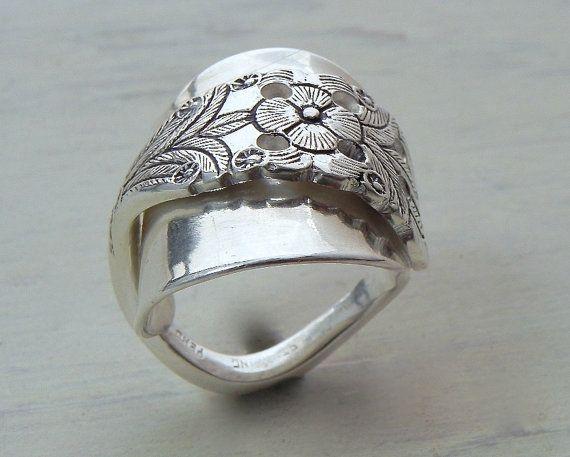 Superb Sterling Spoon Ring Handmade Wild Prairie Silver by joykruse