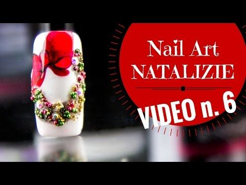 Nail art Natalizie semplici in gel (o smalti) - tutorial Xmas nails #3 - YouTube
