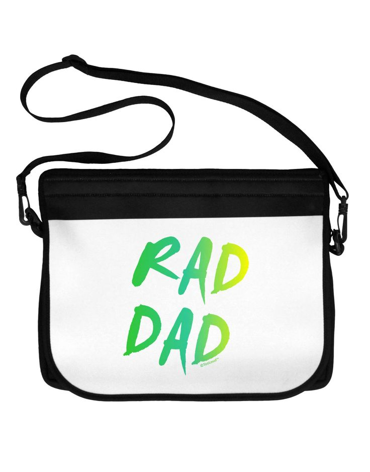 Rad Dad Design - 80s Neon Neoprene Laptop Shoulder Bag