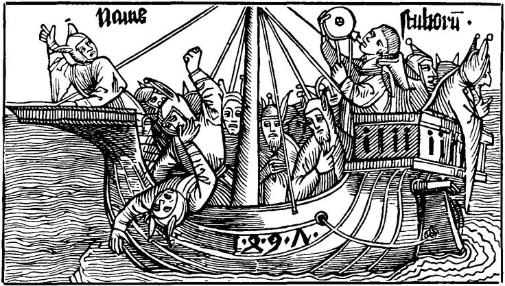 Medieval woodcut: ship of fools. An idea that's been ...