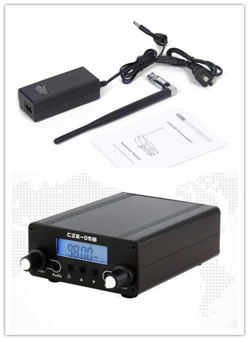 CZE (H)-05B Stereo 0.5 W Jarak jauh Dual Modus PLL FM Radio Pemancar Siaran Stasiun Rumah + antena & Power Adapter