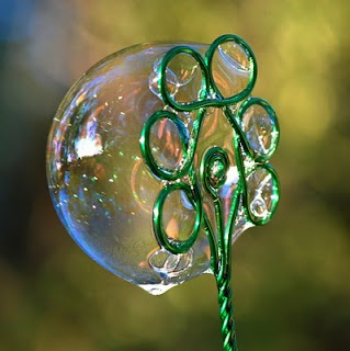 Another bubble wand made of wire. $10.