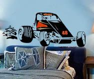 Sprint Car Racing Personalized Vinyl Wall by InfinityDecals, $69.99