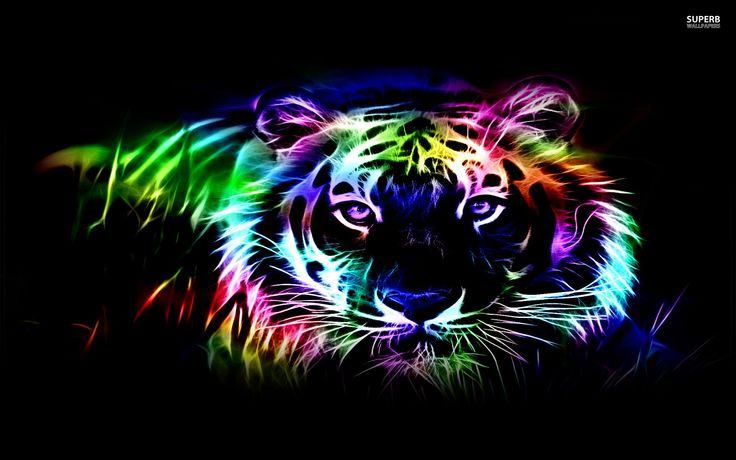 hd abstract neon wallpapers abstract tiger neon. Black Bedroom Furniture Sets. Home Design Ideas