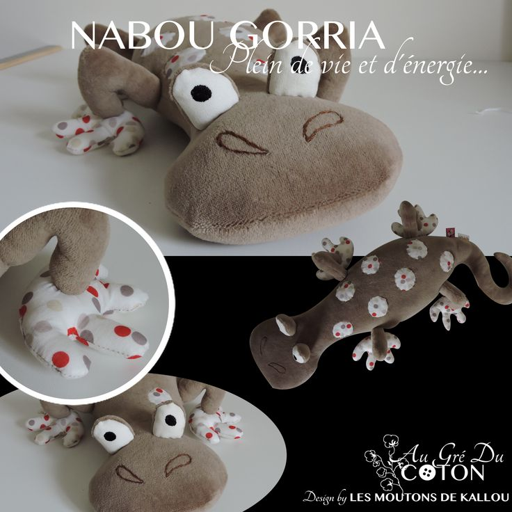 Nabou Gorria Adopté  Août 2015 Patron : Les Moutons de Kallou Tissus : Jersey de coton café et coton à pois beige et rouge